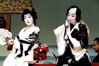 扇菊会清元「お祭り」の舞台写真1
