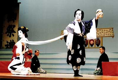 扇菊会清元「お祭り」の舞台写真2